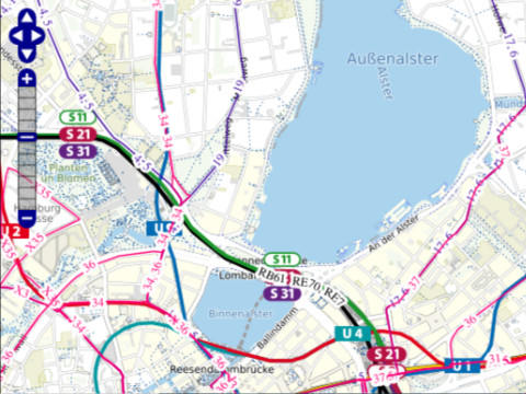 Ausschnitt Verkehrsnetzplan